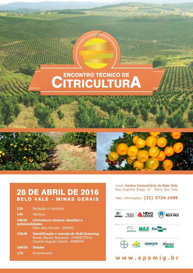 Encontro Citricultura 2016 - Belo Vale - Divulgação