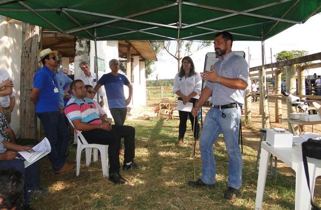 Giro tecnológico do Encontro Regional de Pecuária Leiteira foi realizado no Campo Experimental da EPAMIG