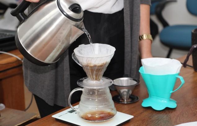 Degustação comentada de café. Foto Erasmo Pereira