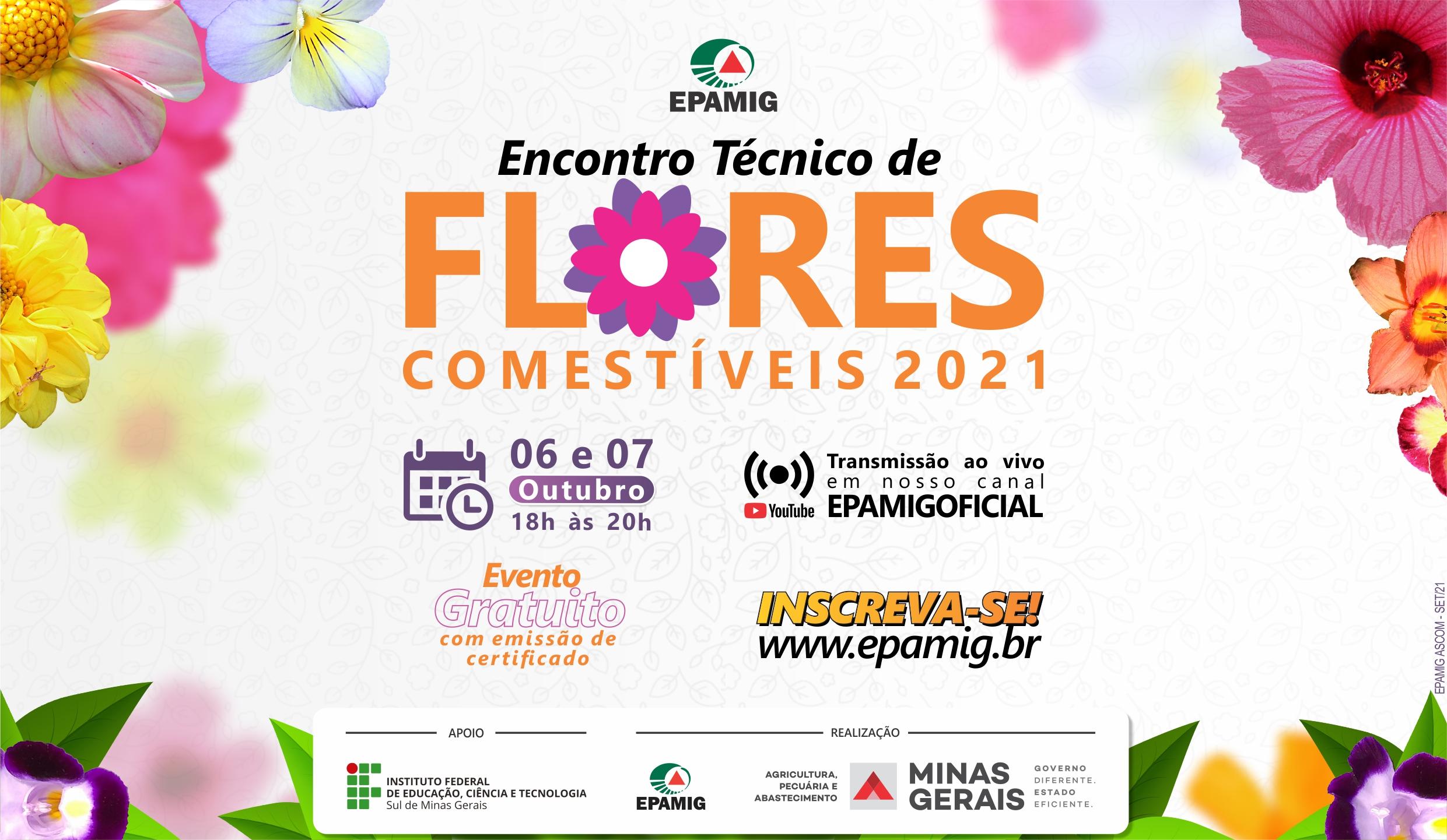 EPAMIG prepara Encontro Técnico sobre Flores Comestíveis